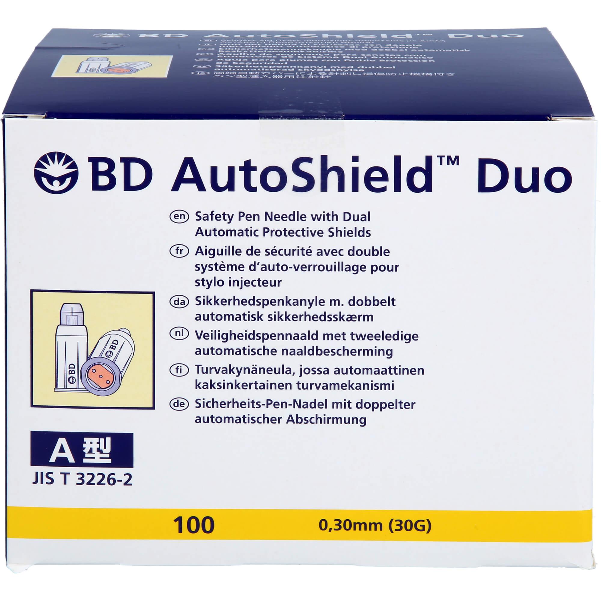 BD AUTOSHIELD Duo Sicherheits-Pen-Nadeln 8 mm