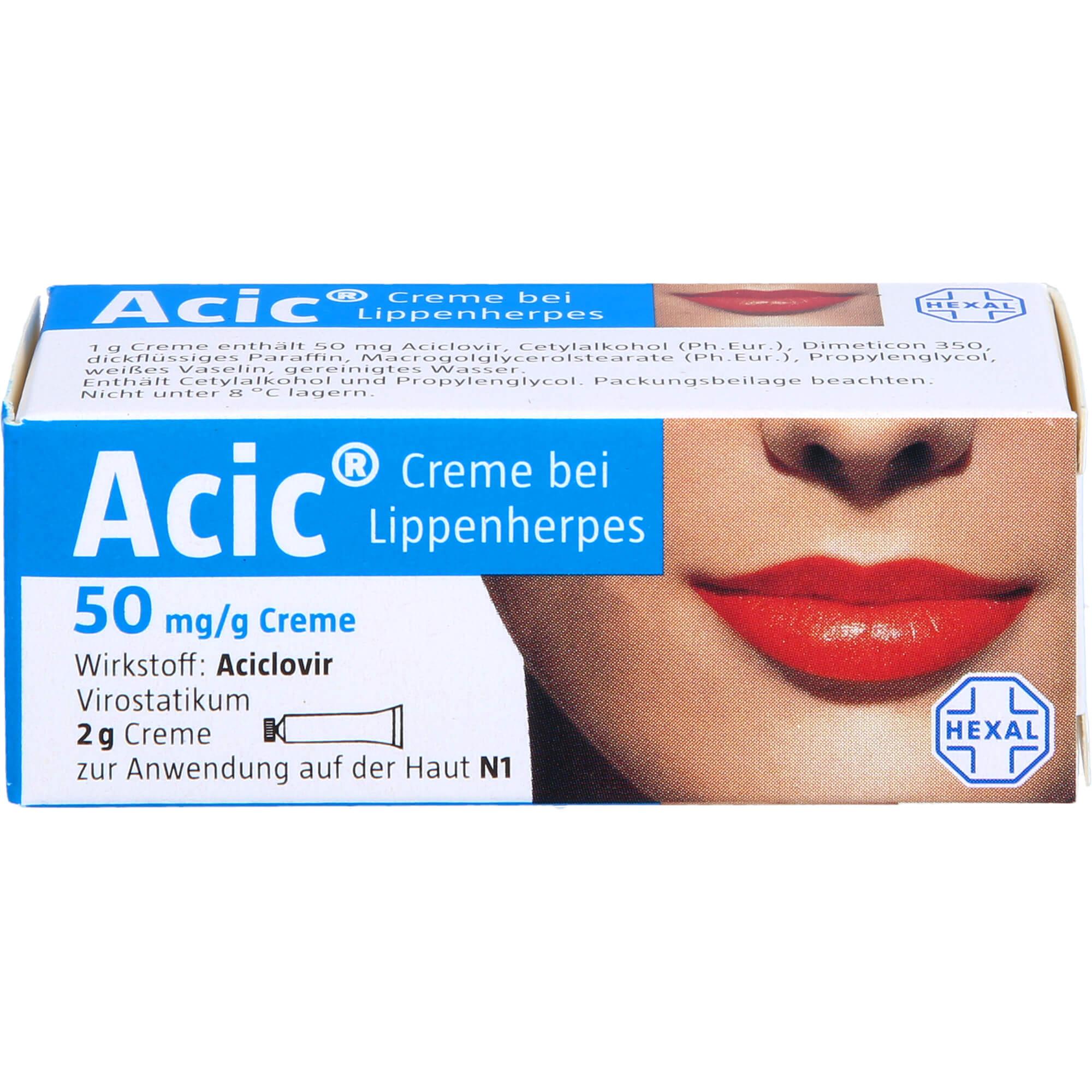 ACIC Creme bei Lippenherpes