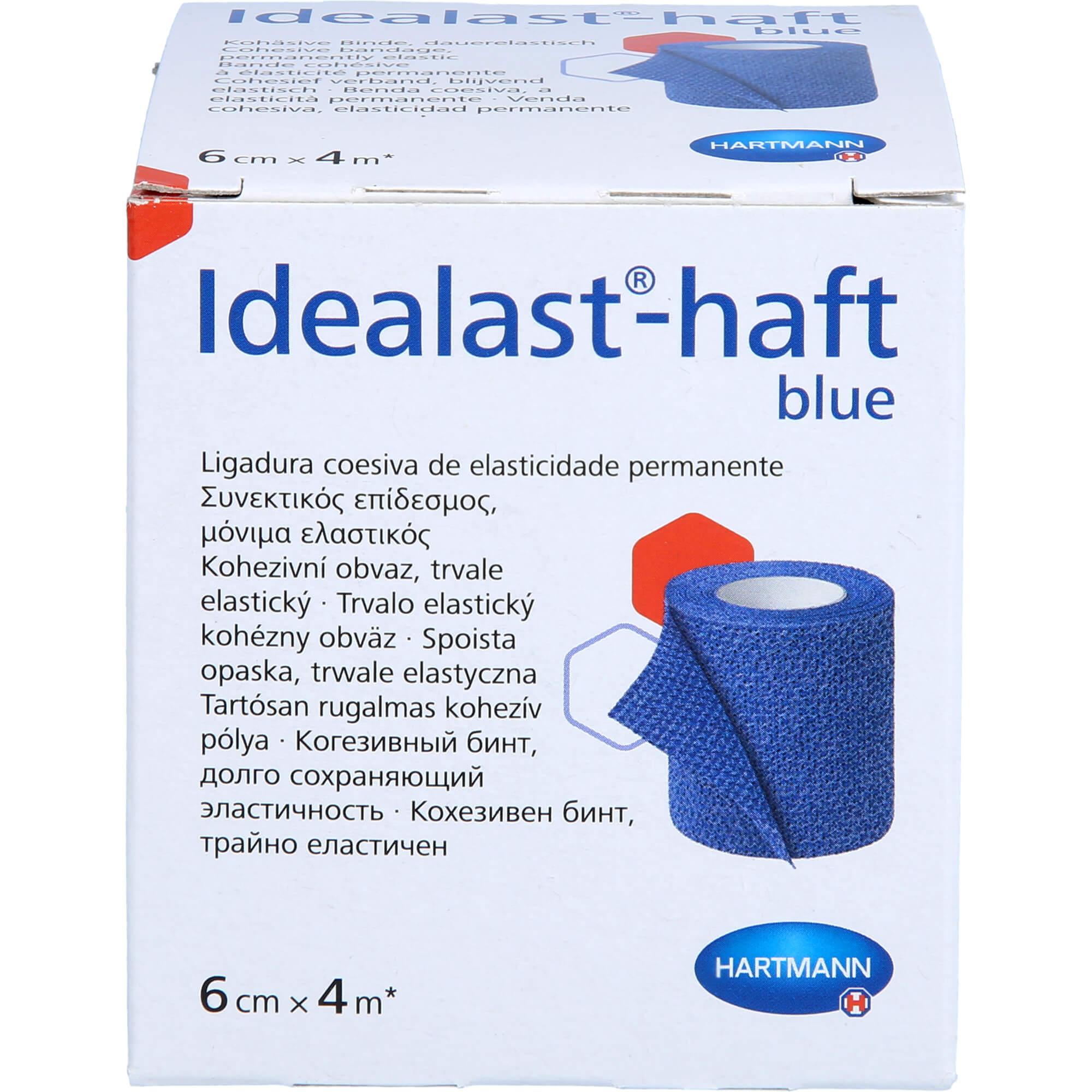 IDEALAST-haft color Binde 6 cmx4 m blau