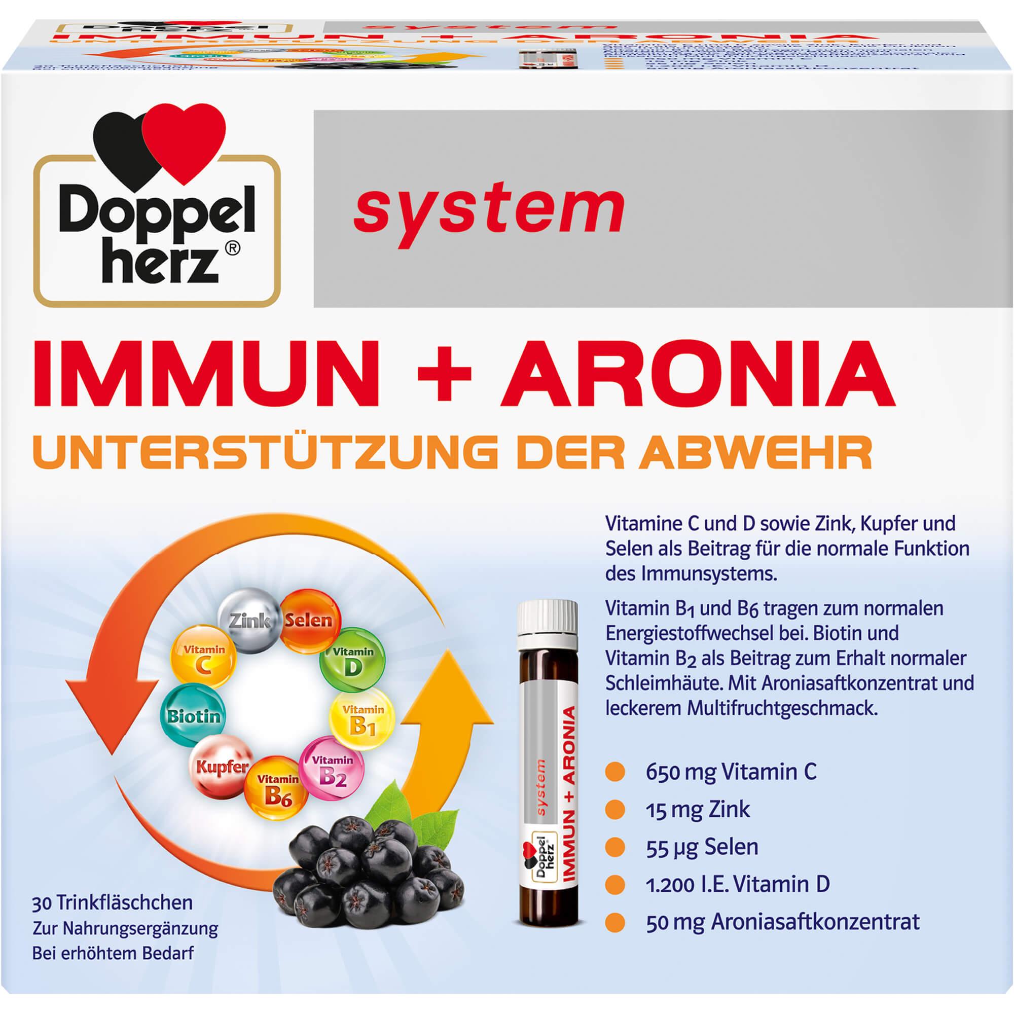 DOPPELHERZ Immun+Aronia system Ampullen