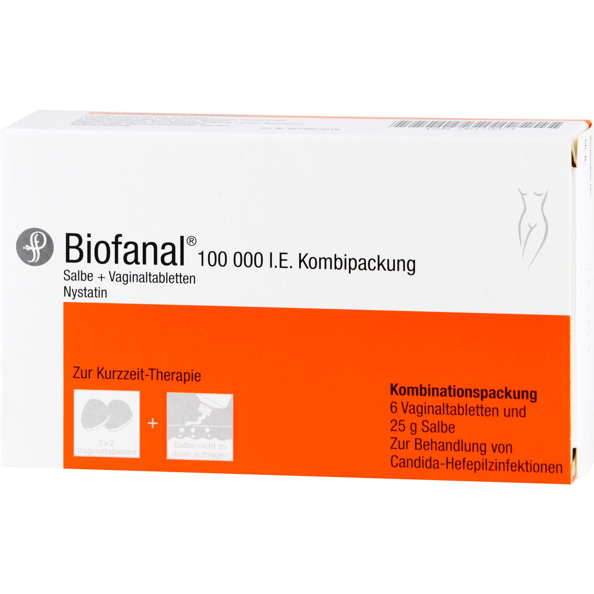 BIOFANAL Kombip. 25g Salbe + 6 Vag.Tbl.
