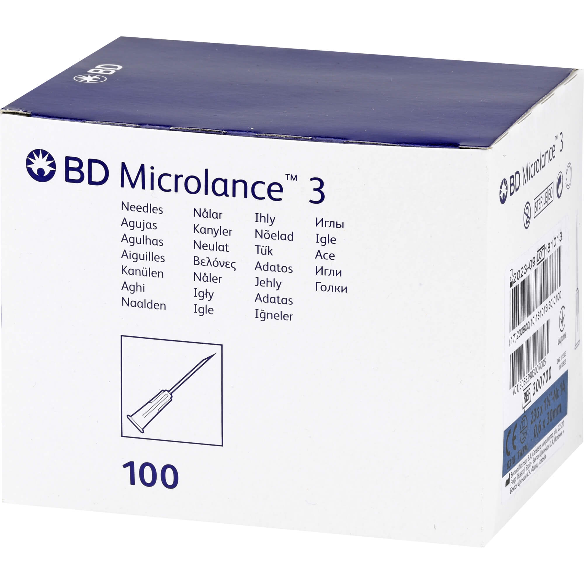 BD MICROLANCE Kanüle 23 G 1 1/4 0,6x30 mm