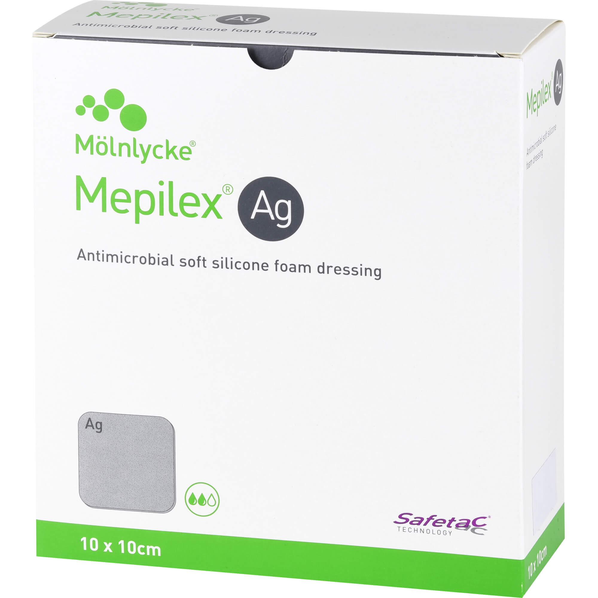 MEPILEX Ag Schaumverband 10x10 cm steril