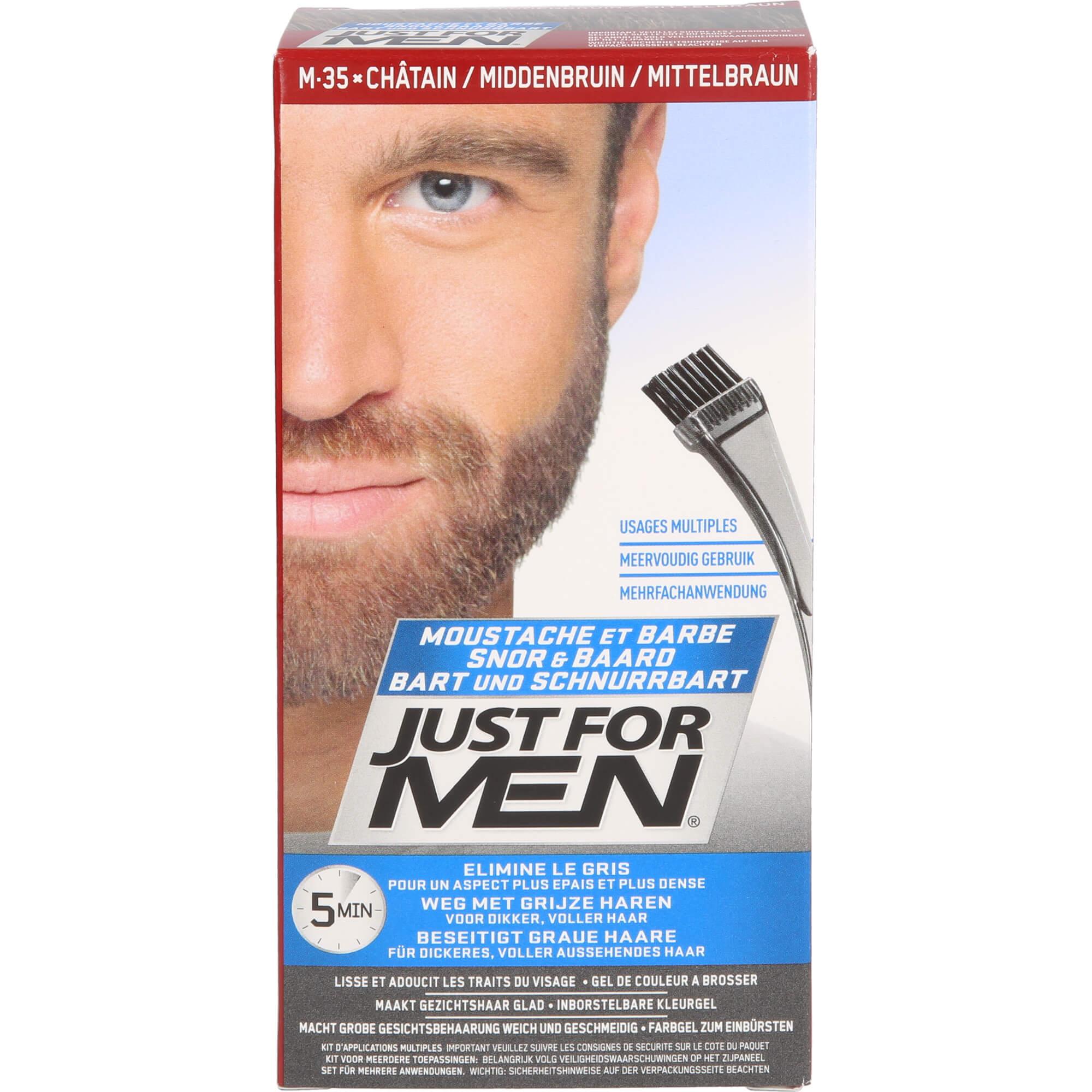 JUST for men Brush in Color Gel mittelbraun