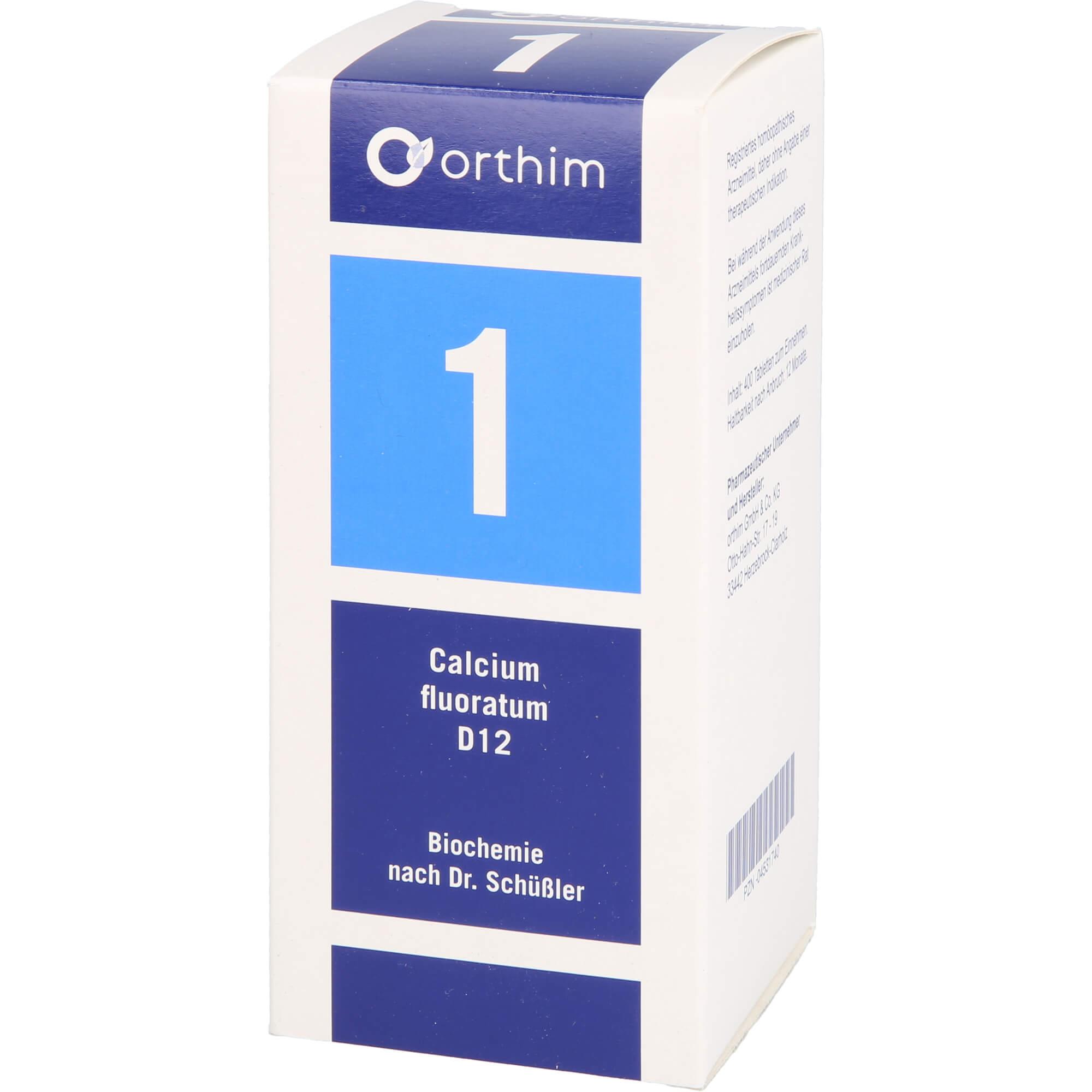 BIOCHEMIE Orthim 1 Calcium fluoratum D 12 Tabl.