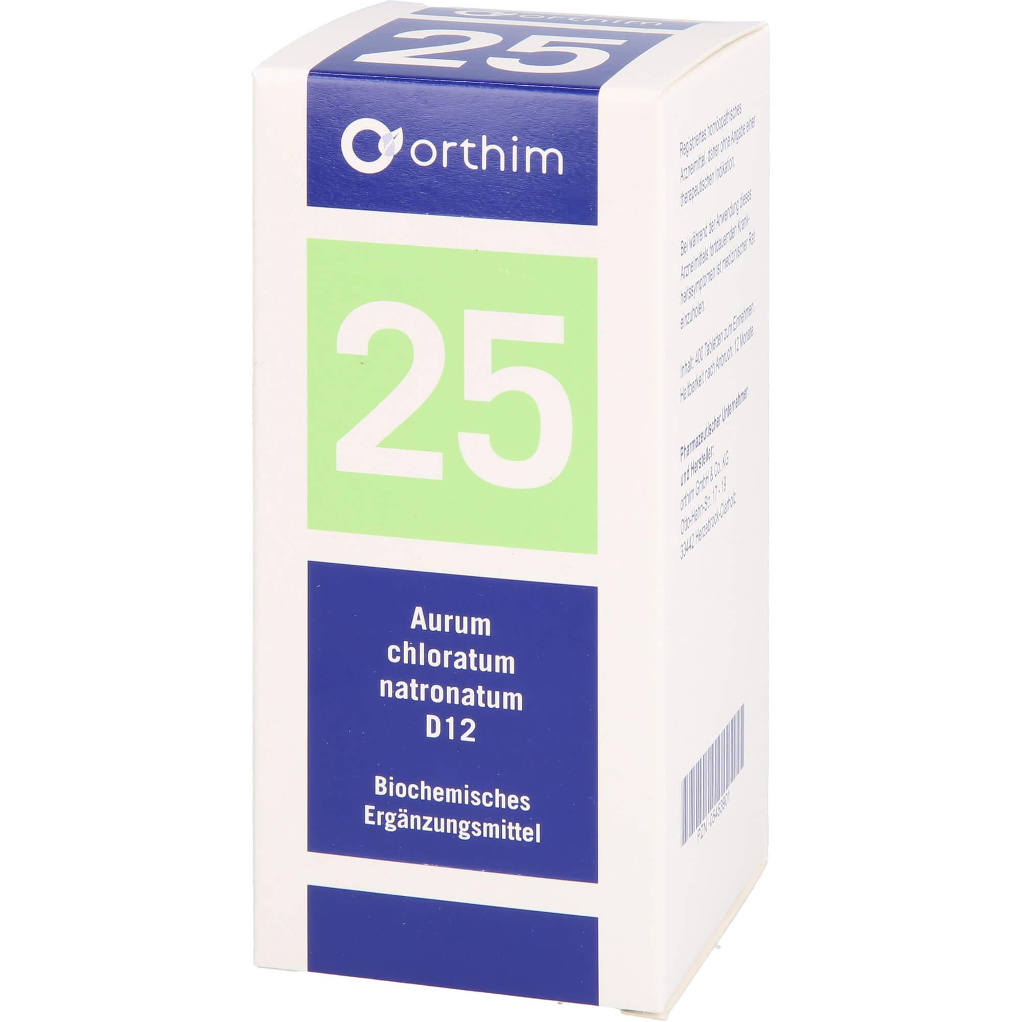 BIOCHEMIE Orthim 25 Aurum chlorat.natron.D 12 Tab.
