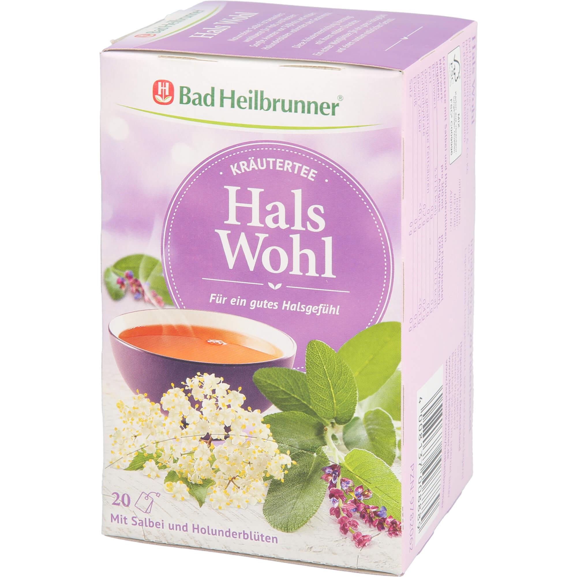 BAD HEILBRUNNER Kräutertee Hals Wohl Filterbeutel
