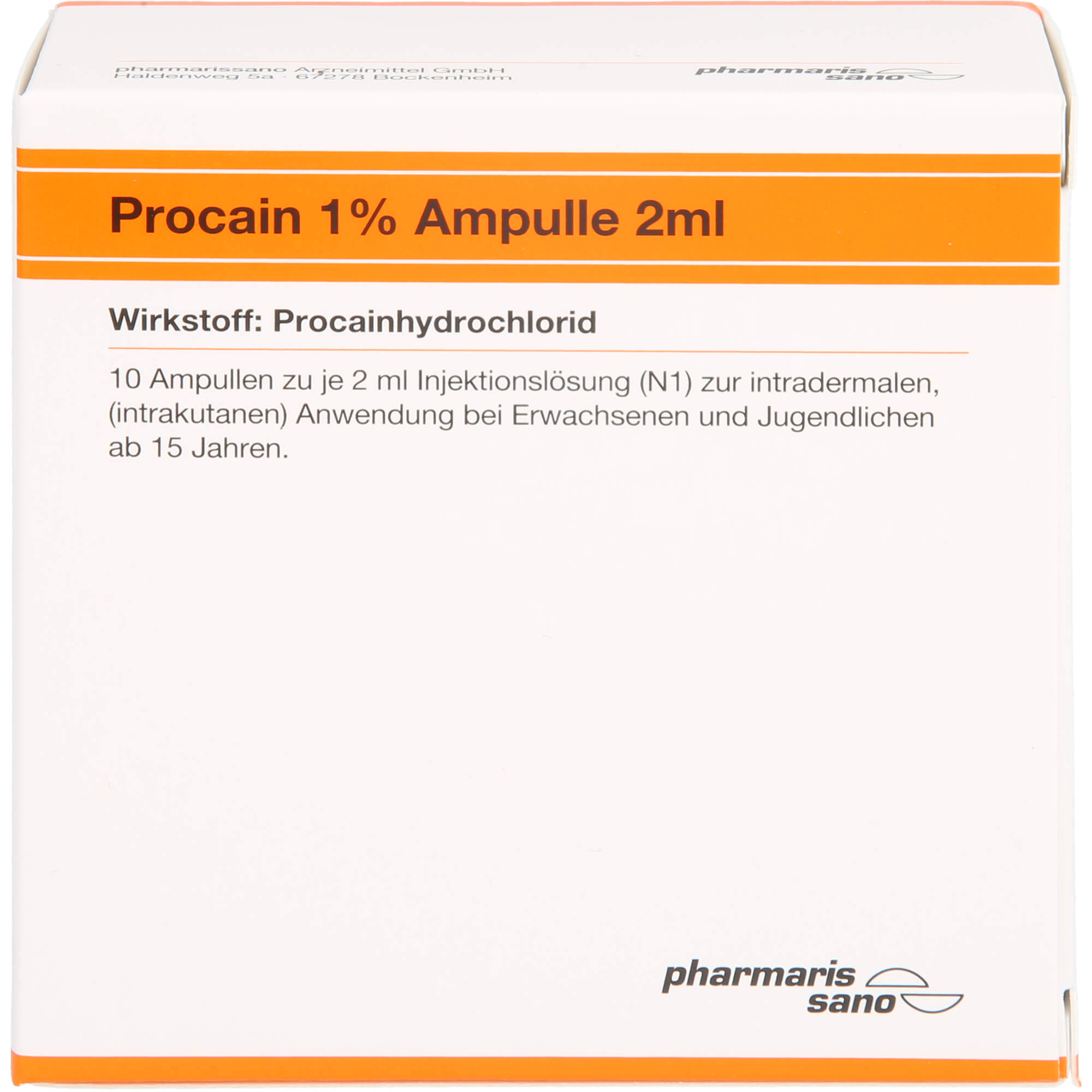 PROCAIN Röwo 1% Ampullen 2 ml