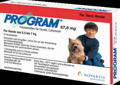 Elanco Deutschland GmbH PROGRAM 67,8 mg 2,5-7 kg Tabl.f.Hunde 6 St