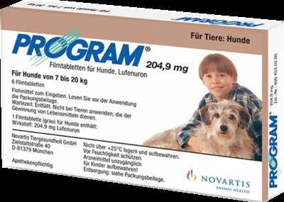 Elanco Deutschland GmbH PROGRAM 204,9 mg 7-20 kg Tabl.f.Hunde 6 St