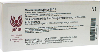 NERVUS STATOACUSTICUS GL D 5 Ampullen 10X1 ml