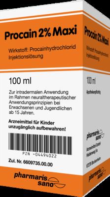 pharmarissano Arzneimittel GmbH PROCAIN RA–WO 2% Maxi Injektionsflaschen 100 ml 04494022