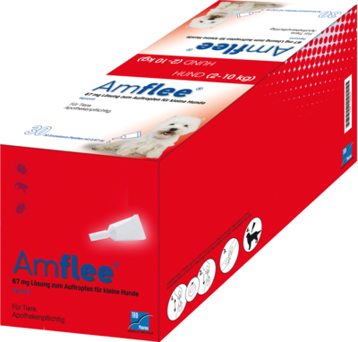 AMFLEE 67 mg Spot-on Lsg.f.kleine Hunde 2-10kg 30 St